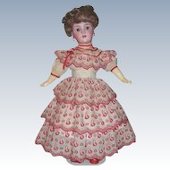 "21"" Antique German Bisque Head Doll by Heinrich Handwerck / Simon & Halbig. Display Ready"