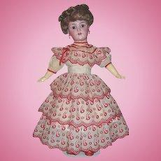 "21"" Antique German Bisque Head Doll by Heinrich Handwerck / Simon & Halbig. Display Ready"