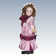 "24"" Heinrich Handwerck Antique German Doll. Bisque head by Simon & Halbig. Display Ready."