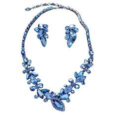 Gustav Sherman Vintage Rhinestone Necklace & Earrings EVC!!