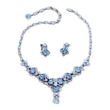 Lovely Signed Bogoff Vintage Necklace & Earrings