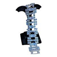 Blue Rhinestone Bracelet Signed Kramer of New York - EVC!!