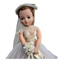Madame Alexander CISSY Doll in Complete Pink Bride Outfit Tagged - 1956