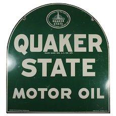 Vintage Quaker State Motor Oil Sign, c. 1967