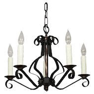 Wonderful Antique Iron Chandelier, c.1920s