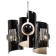 Midcentury Modern Chrome Chandelier