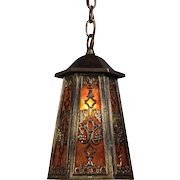 Antique Neoclassical Lantern with Original Mica, Early 1900s