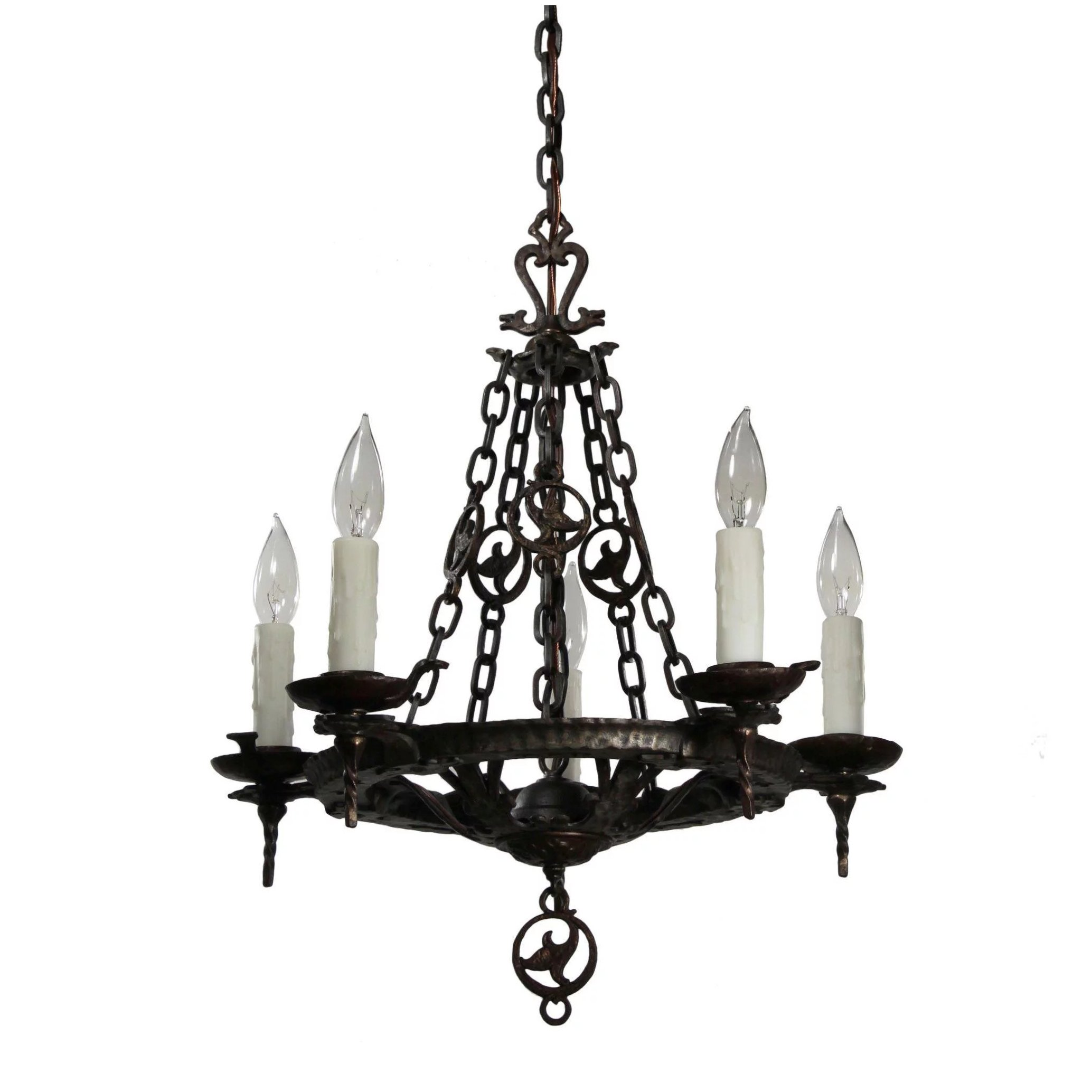 Antique tudor chandelier in cast iron by virden preservation click to expand aloadofball Choice Image