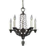 Antique Five-Light Spanish Revival Chandelier, Riddle Co.