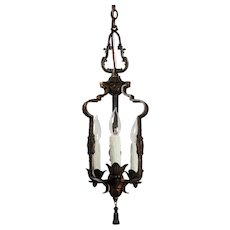 Antique Tudor Pendant Light, Early 1900s