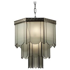 Rare Antique Art Deco Pendant Light