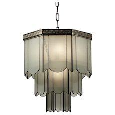 Rare Antique Art Deco Pendant Light