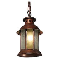 Antique Arts & Crafts Lantern Pendant, Early 1900s