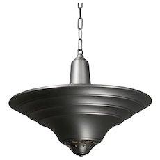 Art Deco Aluminum Pendant Light, Antique Lighting