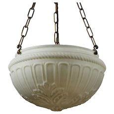 Neoclassical Inverted Dome Chandelier, Antique Lighting