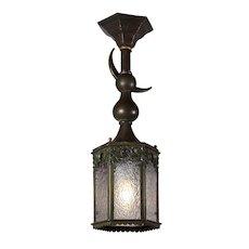 Antique Moorish Revival Lantern, Crescent Moon