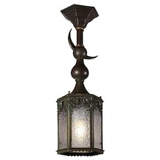 Antique Moorish Revival Lantern, Crescent Moon