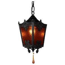 Petite Antique Spanish Revival Lantern