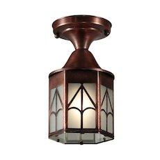 Vintage Flush Mount Lantern in Copper