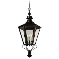 Large Vintage Exterior Copper Lantern, Vintage Lighting