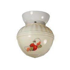 Vintage Flush Mount Light with Porcelain Fitter, Fruit