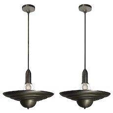 Vintage Mid-Century Modern Art Deco Pendant Lights