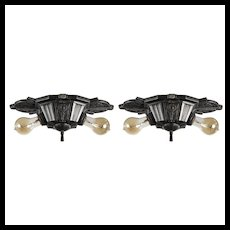 Antique Art Deco Flush Mount Fixtures