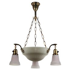 Adam Style Inverted Dome Six-Light Chandelier, Antique Lighting
