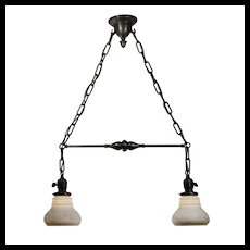 Antique Two-Light Chandelier, Early 1900's