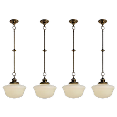 Neoclassical Pendant Lights with Shades, Antique Lighting