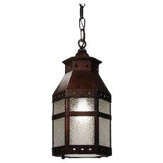 Antique Copper Lantern with Granite Glass