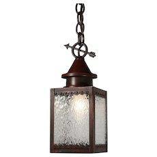 Antique Lantern Pendant, Early 1900s