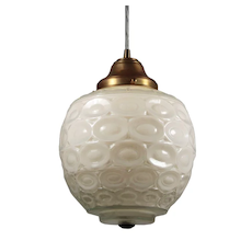 Vintage Pendant Light with Unusual Glass Shade
