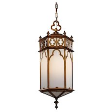 Gothic Revival Pendant Light, Antique Lighting