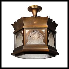 Antique Semi-Flush Gothic Revival Lantern
