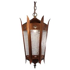 Antique Copper Lantern with Granite Glass