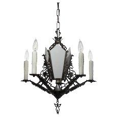 Antique Art Deco Six-Light Chandelier