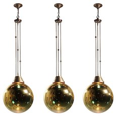 Vintage Mirrored Glass Ball Pendant Lights