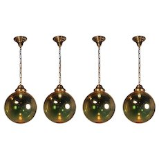 Mirrored Glass Ball Pendant Lights, Vintage Lighting
