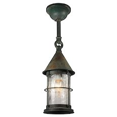 Antique Verdigrised Copper Lantern, c.1910