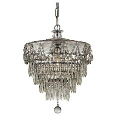 Antique Neoclassical Wedding Cake Chandelier