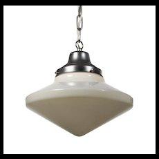 Schoolhouse Pendant Light with Original Shade, Antique Lighting