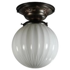 Neoclassical Flush Mount Light, Antique Lighting
