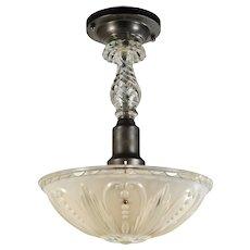 Vintage Semi-Flush Light Fixture