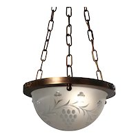 Antique Inverted Dome Chandelier with Grapes
