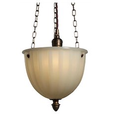 Inverted Dome Pendant Light, Antique Lighting