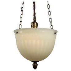 Antique Neoclassical Inverted Dome Light