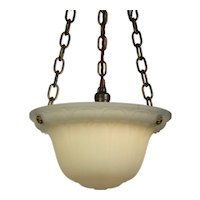 Gorgeous Antique Neoclassical Inverted Dome Chandelier, c. 1920's