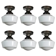 Antique Flush Mount Schoolhouse Lights