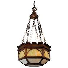 Antique  Gothic Revival Pendant Light